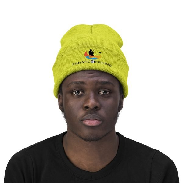 F4F - Knit Beanie yellow green front