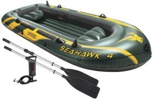 Intex Seahawk Four Person Inflatable Fishing Boat