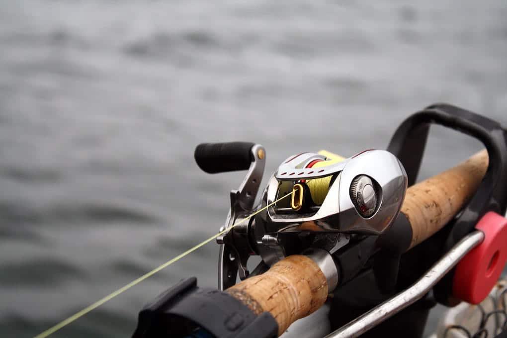 fishing line on baitcaster reel