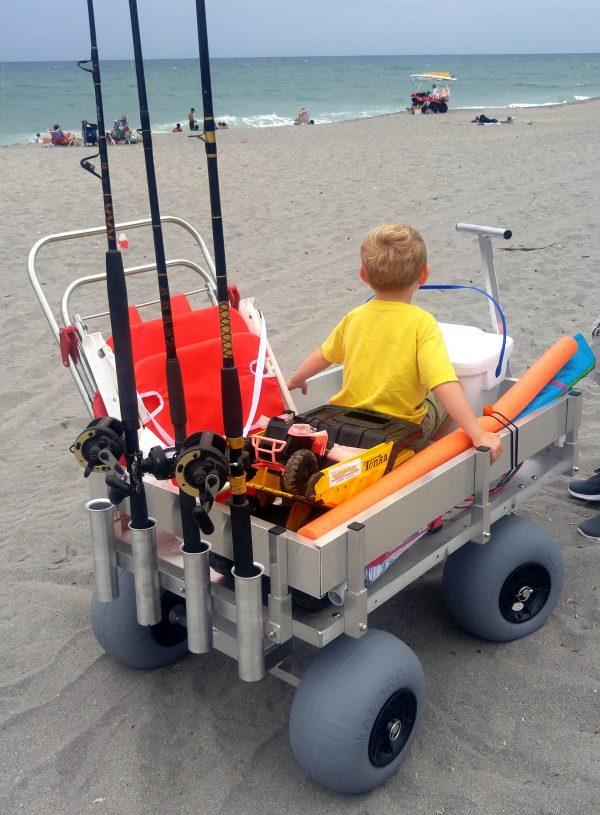 big kahuna beach and fishing wagon